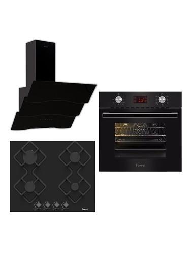 Ferre Ferre Lüks Serisi 8+1 Fonksiyonlu Turbo Digital Emaye Izgaralı Set (Ka007 + 8002+ S Spr 600) Siyah